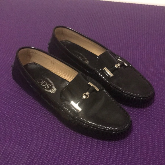 Black Patent Leather TOD'S Loafers sz38/8